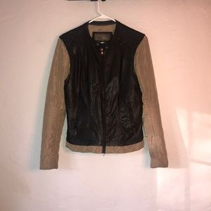 Gi Sono by Cavalini Vegan Leather & Quilted Jacket